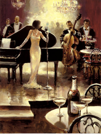 Jazz Night Out Art Print by Brent Heighton